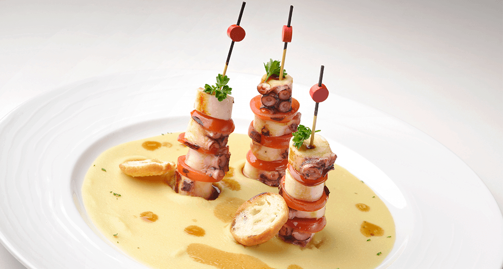 brochetas de pulpo