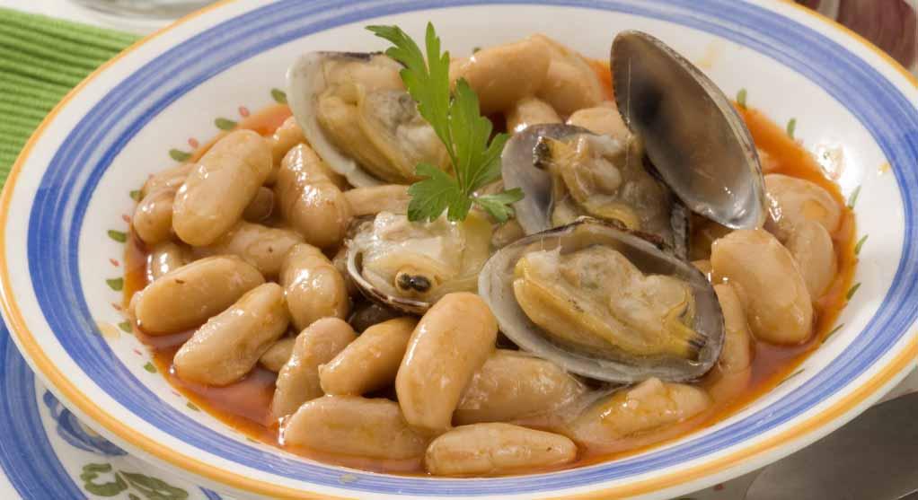 receta de fabes con almejas